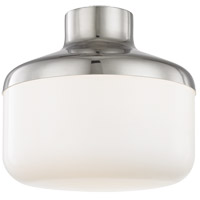 Mitzi by Hudson Valley Lighting H144501L-PN Livvy 1 Light 12 inch Polished Nickel Flush Mount Ceiling Light