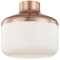 Mitzi by Hudson Valley Lighting H144501L-POC Livvy 1 Light 12 inch Polished Copper Flush Mount Ceiling Light