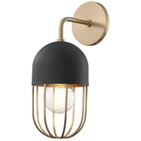 Mitzi H145101-AGB/BK Haley 1 Light 6 inch Aged Brass Wall Sconce Wall Light