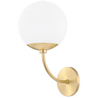 Carrie 1 Light 8 inch Aged Brass Wall Sconce Wall Light