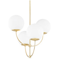Carrie 4 Light 30 inch Aged Brass Chandelier Ceiling Light