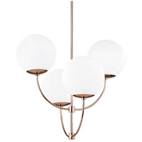 Carrie 4 Light 30 inch Polished Copper Chandelier Ceiling Light