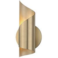 Evie LED 5 inch Aged Brass ADA Wall Sconce Wall Light