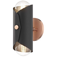 Mitzi H172102-POC/BK Immo 2 Light 5 inch Polished Copper Wall Sconce Wall Light