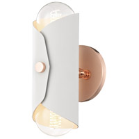 Mitzi H172102-POC/WH Immo 2 Light 5 inch Polished Copper Wall Sconce Wall Light