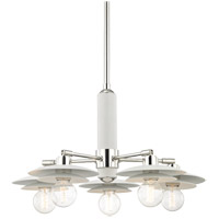 Milla 5 Light 26 inch Polished Nickel Chandelier Ceiling Light