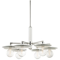 Milla 6 Light 36 inch Polished Nickel Chandelier Ceiling Light