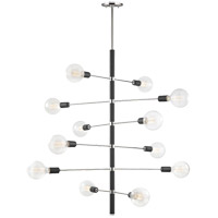 Astrid 12 Light 36 inch Polished Nickel Chandelier Ceiling Light