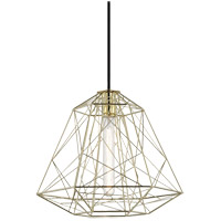Ani 1 Light 16 inch Polished Brass Pendant Ceiling Light