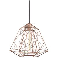 Ani 1 Light 16 inch Polished Copper Pendant Ceiling Light