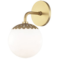 Paige 1 Light 6 inch Aged Brass Bath Vanity Wall Light