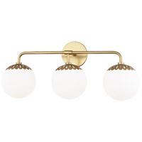 Mitzi H193303-AGB Paige 3 Light 24 inch Aged Brass Bath Vanity Wall Light