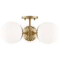 Mitzi H193603-AGB Paige 3 Light 18 inch Aged Brass Semi Flush Ceiling Light