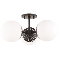 Mitzi H193603-OB Paige 3 Light 18 inch Old Bronze Semi Flush Ceiling Light
