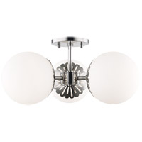 Mitzi H193603-PN Paige 3 Light 18 inch Polished Nickel Semi Flush Ceiling Light