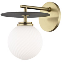 Ellis LED 7 inch Aged Brass and Black Wall Sconce Wall Light