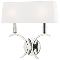 Mitzi H212102L-PN Gwen 2 Light 15 inch Polished Nickel ADA Wall Sconce Wall Light
