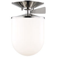 Mitzi H214601L-PN Audrey 1 Light 8 inch Polished Nickel Semi Flush Ceiling Light