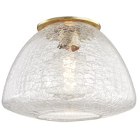 Mitzi H216501L-AGB Maya 1 Light 12 inch Aged Brass Flush Mount Ceiling Light