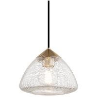 Mitzi H216701S-AGB Maya 1 Light 9 inch Aged Brass Pendant Ceiling Light