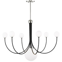 Mitzi H234807-PN/BK Coco LED 40 inch Polished Nickel and Black Chandelier Ceiling Light