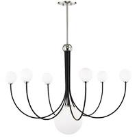 Mitzi H234807-PN/BK Coco LED 40 inch Polished Nickel and Black Chandelier Ceiling Light