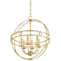 Mitzi H236706-GL Jade 6 Light 18 inch Gold Leaf Pendant Ceiling Light
