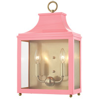Mitzi H259102-AGB/PK Leigh 2 Light 12 inch Aged Brass and Pink Wall Sconce Wall Light