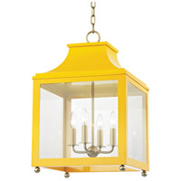 Mitzi H259704L-AGB/MG Leigh 4 Light 16 inch Aged Brass and Marigold Pendant Ceiling Light