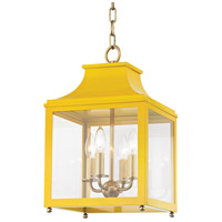Mitzi H259704S-AGB/MG Leigh 4 Light 12 inch Aged Brass and Marigold Pendant Ceiling Light