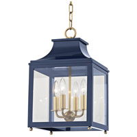 Mitzi H259704S-AGB/NVY Leigh 4 Light 12 inch Aged Brass and Navy Pendant Ceiling Light