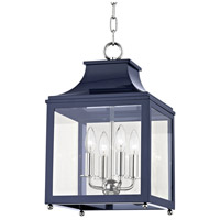 Mitzi H259704S-PN/NVY Leigh 4 Light 12 inch Polished Nickel and Navy Pendant Ceiling Light