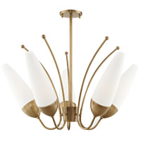 Mitzi Aged Brass Glass Chandeliers