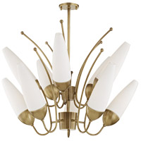 Amee 10 Light 33 inch Aged Brass Chandelier Ceiling Light