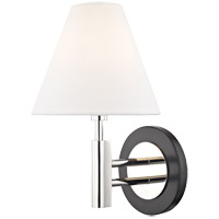 Mitzi H264101-PN/BK Robbie 1 Light 8 inch Polished Nickel and Black Wall Sconce Wall Light