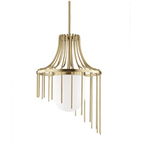 Mitzi H266701L-AGB Kylie 1 Light 16 inch Aged Brass Pendant Ceiling Light