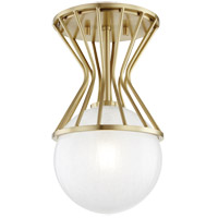 Mitzi H267601-AGB Petra 1 Light 8 inch Aged Brass Semi Flush Ceiling Light