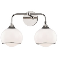Mitzi H281302-PN Reese 2 Light 17 inch Polished Nickel Wall Sconce Wall Light