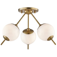 Mitzi H282603-AGB Remi 3 Light 16 inch Aged Brass Flush Mount Ceiling Light