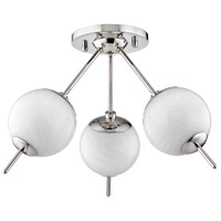 Mitzi H282603-PN Remi 3 Light 16 inch Polished Nickel Flush Mount Ceiling Light