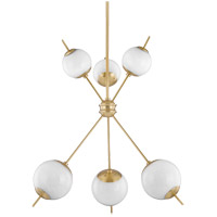 Mitzi H282806-AGB Remi 6 Light 24 inch Aged Brass Chandelier Ceiling Light