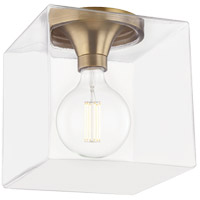 Mitzi H284501SQL-AGB Grace LED 10 inch Aged Brass Flush Mount Ceiling Light