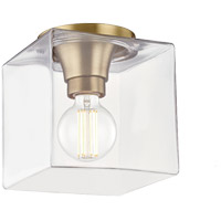 Mitzi H284501SQS-AGB Grace 1 Light 7 inch Aged Brass Flush Mount Ceiling Light