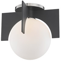 Mitzi H299501S-PN/BK Nadia 1 Light 8 inch Polished Nickel / Black Flush Mount Ceiling Light in Polished Nickel and Black
