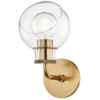 Mitzi H311301-AGB Noelle 1 Light 6 inch Aged Brass Bath Bracket Wall Light