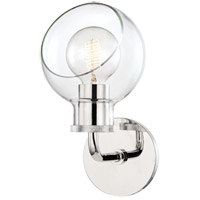 Mitzi H311301-PN Noelle 1 Light 6 inch Polished Nickel Bath Bracket Wall Light