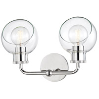 Mitzi H311302-PN Noelle 2 Light 15 inch Polished Nickel Bath Bracket Wall Light