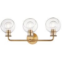 Mitzi H311303-AGB Noelle 3 Light 24 inch Aged Brass Bath Bracket Wall Light