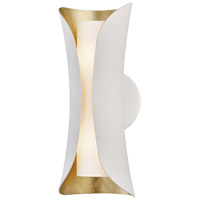 Josie 2 Light 5 inch Gold Leaf / White Wall Sconce Wall Light in Gold Leaf and White