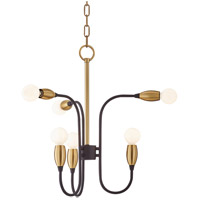 Mitzi H320806-AGB/BK Dakota 6 Light 20 inch Aged Brass / Black Chandelier Ceiling Light